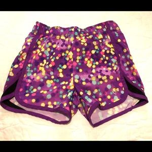 Justice Purple Polka Dot Shorts